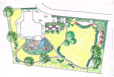 landschaftsarchitektur garten skizze | möbelideen, Gartengestaltung